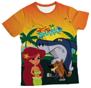 Camiseta Infantil Zig e Shark MC
