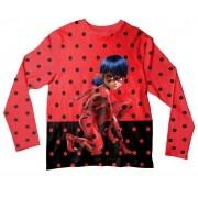 Camiseta Infantil Ladybug Vermelha e Preta ML
