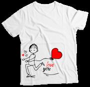 Camiseta Adulto Love You Ele MC