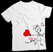 Camiseta Adulto Love You Ela MC
