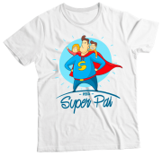 Camiseta Adulto Meu Super Pai Branca MC
