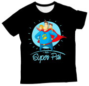 Camiseta Adulto Meu Super Pai Preta MC