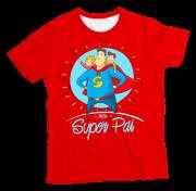 Camiseta Adulto Meu Super Pai Vermelho MC