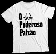 Camiseta Adulto O Poderoso Paizão Branca MC