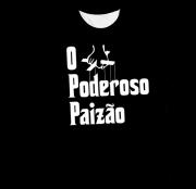 Camiseta Adulto O Poderoso Paizão Preta MC