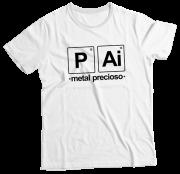 Camiseta Adulto Pai Metal Precioso Branca MC