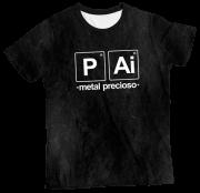 Camiseta Adulto Pai Metal Precioso Mescla MC