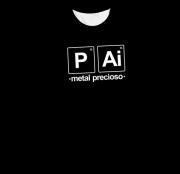 Camiseta Adulto Pai Metal Precioso Preta MC