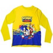 Camiseta Infantil Sonic Mania Amarela ML