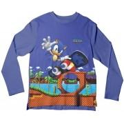 Camiseta Infantil Sonic Skate ML