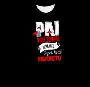 Camiseta Adulto Super Pai Favorito Preta MC