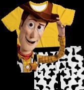 Pijama Infantil Woody Toy Story Amarelo PJMC