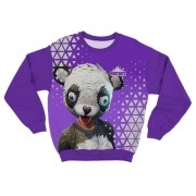 Moletom Adulto Fortnite Panda Team