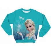 Moletom Adulto Frozen Elsa