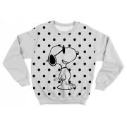 Moletom Adulto Snoopy Branco