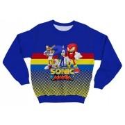Moletom Adulto Sonic e Amigos Azul