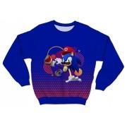 Moletom Adulto Sonic x Mario