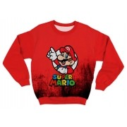 Moletom Adulto Super Mario Vermelho