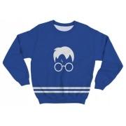 Moletom Infantil Harry Potter Azul