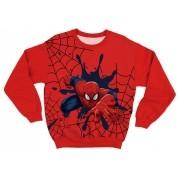 Moletom Infantil Homem Aranha Vermelho