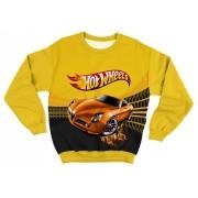 Moletom Infantil Hot Wheels Amarelo