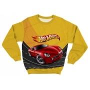 Moletom Infantil Hot Wheels Carro Vermelho
