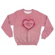 Moletom Infantil Love Rosa