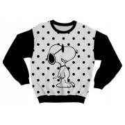 Moletom Infantil Snoopy Preto