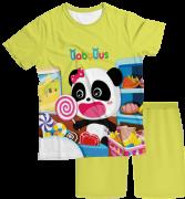 Pijama Adulto Baby Bus Amarelo PJMC