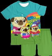 Pijama Adulto Chip e Potato PJMC
