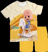 Pijama Adulto Cleo e Cuquin Amarelo PJMC