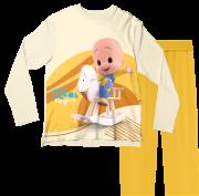 Pijama Adulto Cleo e Cuquin Amarelo PJML