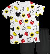 Pijama Adulto Disney Mickey Branco PJMC
