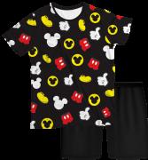 Pijama Adulto Disney Mickey Preto PJMC