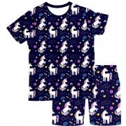 Pijama Adulto Unicórnio Azul PJMC