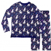 Pijama Adulto Unicórnio Azul PJML