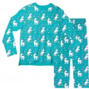 Pijama Adulto Unicórnio Verde PJML