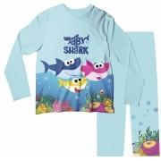 Pijama Infantil Baby Shark Azul Claro PJML