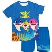 Pijama Infantil Baby Shark Azul Escuro PJMC