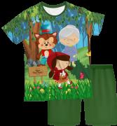 Pijama Infantil Chapeuzinho Vermelho PJMC