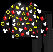 Pijama Infantil Disney Mickey Preto PJML