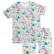 Pijama Infantil Unicórnio Branco PJMC