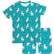 Pijama Infantil Unicórnio Verde PJMC