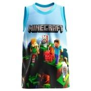 Regata Infantil Minecraft Azul Claro RG