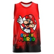 Regata Infantil Super Mario Vermelho RG