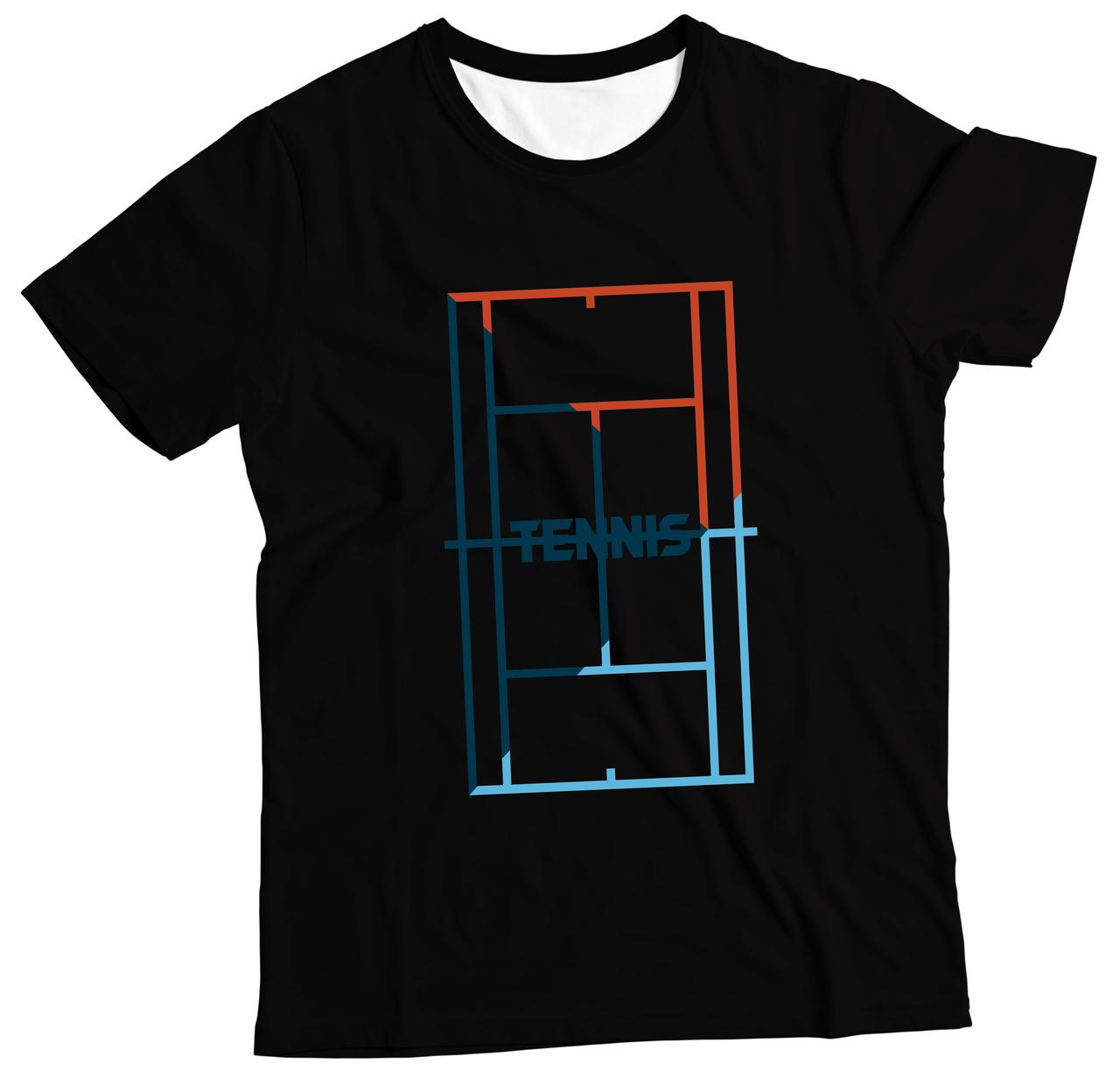 Camiseta Adulto Tennis Preto MC