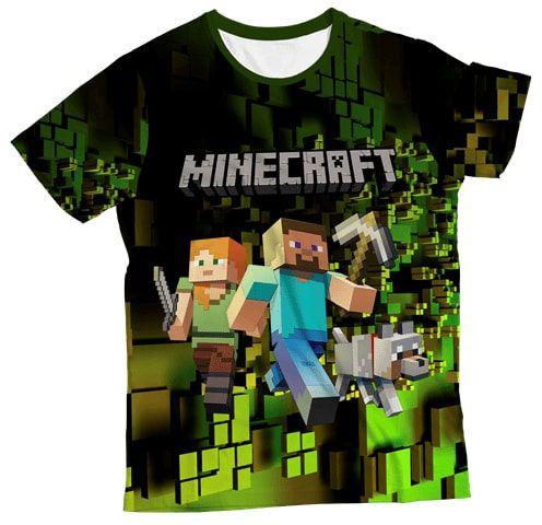 Camiseta Infantil Minecraft Verde MC