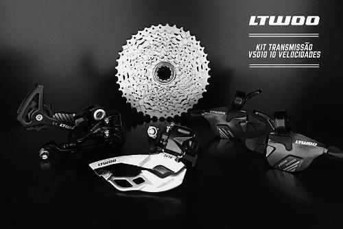 Kit Transmissão Ltwoo V5010 2x10v 20v Alavanca Câmbio Cassete