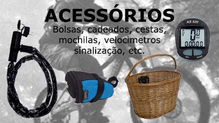 acessóriso bolsas cadeados cestas mochilas velocimetros sinalização