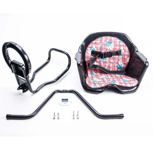 Cadeirinha Dianteira Preta Assento Plástico Expander Bike